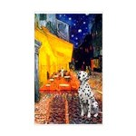 Cafe / Dalmatian #1 Sticker (Rectangle)