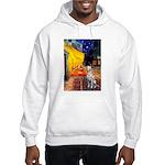 Cafe / Dalmatian #1 Hooded Sweatshirt