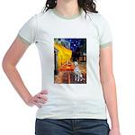 Cafe / Dalmatian #1 Jr. Ringer T-Shirt