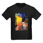 Cafe / Dalmatian #1 Kids Dark T-Shirt