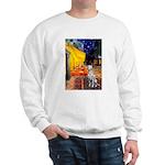 Cafe / Dalmatian #1 Sweatshirt