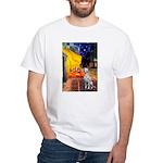 Cafe / Dalmatian #1 White T-Shirt