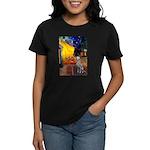 Cafe / Dalmatian #1 Women's Dark T-Shirt