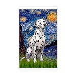 Starry / Dalmatian #1 Sticker (Rectangle)