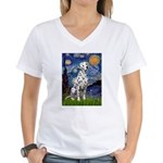 Starry / Dalmatian #1 Women's V-Neck T-Shirt