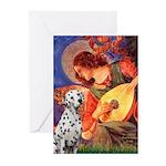 Mandolin / Dalmatian #1 Greeting Cards (Pk of 20)