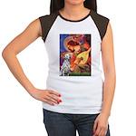 Mandolin / Dalmatian #1 Women's Cap Sleeve T-Shirt