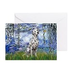 Lilies / Dalmatian #1 Greeting Cards (Pk of 10)