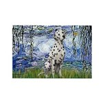 Lilies / Dalmatian #1 Rectangle Magnet