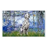 Lilies / Dalmatian #1 Sticker (Rectangle)