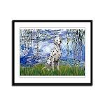 Lilies / Dalmatian #1 Framed Panel Print