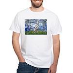 Lilies / Dalmatian #1 White T-Shirt