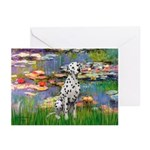 Lilies/ Dalmatian #1 Greeting Cards (Pk of 10)