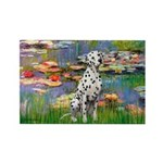 Lilies/ Dalmatian #1 Rectangle Magnet