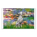 Lilies/ Dalmatian #1 Sticker (Rectangle 10 pk)