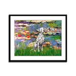 Lilies/ Dalmatian #1 Framed Panel Print