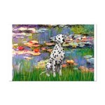 Lilies/ Dalmatian #1 Mini Poster Print