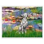 Lilies/ Dalmatian #1 Small Poster
