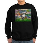 Lilies/ Dalmatian #1 Sweatshirt (dark)