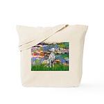 Lilies/ Dalmatian #1 Tote Bag
