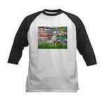 Lilies/ Dalmatian #1 Kids Baseball Jersey
