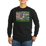 Lilies/ Dalmatian #1 Long Sleeve Dark T-Shirt