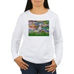 Lilies/ Dalmatian #1 Women's Long Sleeve T-Shirt