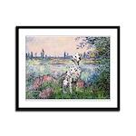 Seine / Dalmatian #1 Framed Panel Print