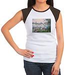 Seine / Dalmatian #1 Women's Cap Sleeve T-Shirt