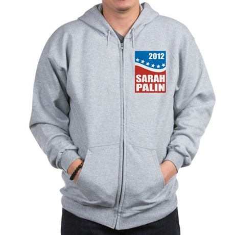 Palin Red White Blue Zip Hoodie