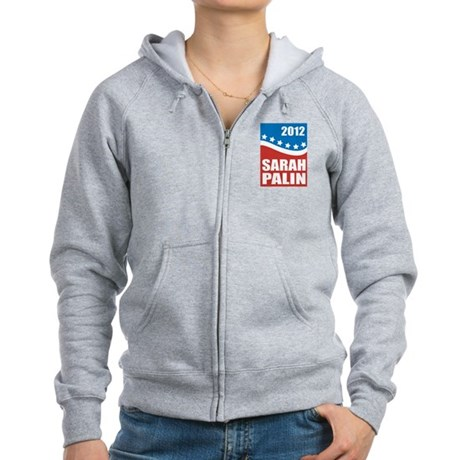 Palin Red White Blue Women's Zip Hoodie