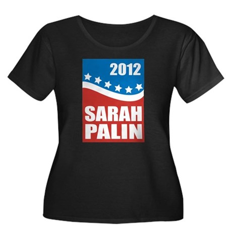 Palin Red White Blue Women's Plus Size Scoop Neck