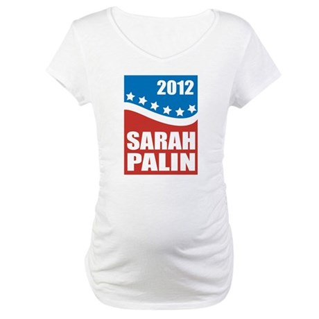 Palin Red White Blue Maternity T-Shirt