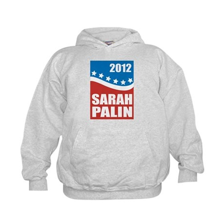 Palin Red White Blue Kids Hoodie