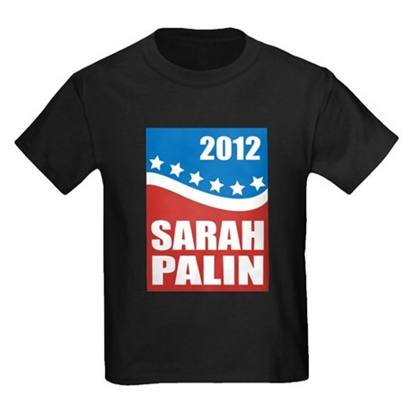 Palin Red White Blue Kids Dark T-Shirt