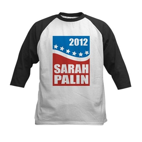 Palin Red White Blue Kids Baseball Jersey