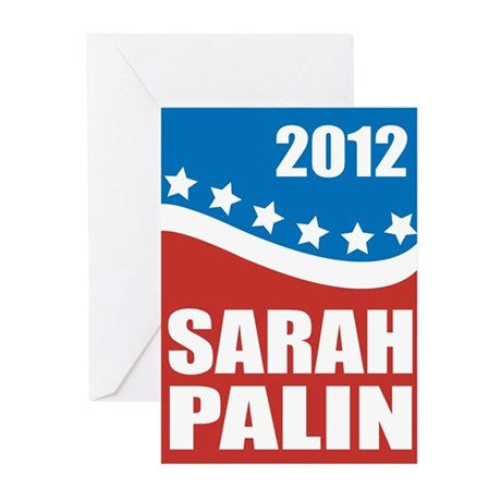Palin Red White Blue Greeting Cards (Pk of 20)