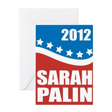 Palin Red White Blue Greeting Card