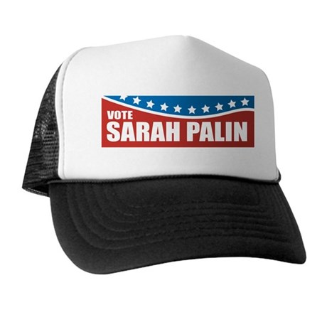 Palin Red White Blue Trucker Hat