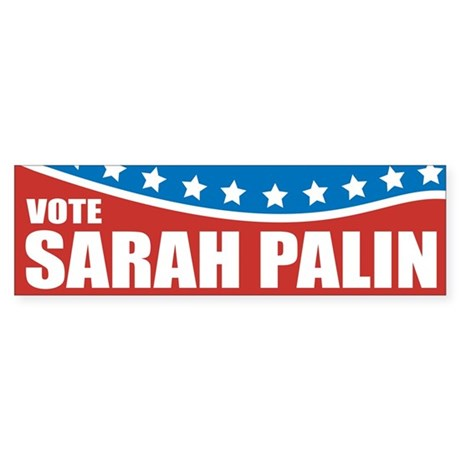 Palin Red White Blue Bumper Sticker