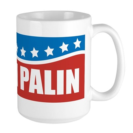 Palin Red White Blue Large Mug