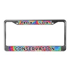 Peace Love Conservation License Plate Frame