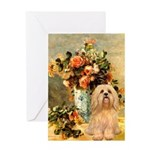 Vase / Lhasa Apso #9 Greeting Card