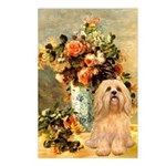 Vase / Lhasa Apso #9 Postcards (Package of 8)