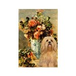 Vase / Lhasa Apso #9 Rectangle Magnet (100 pack)