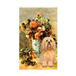 Vase / Lhasa Apso #9 Sticker (Rectangle)