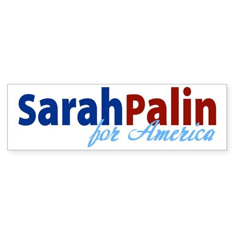 Sarah Palin for America Bumper Sticker