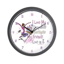 Online Friends Wall Clock