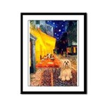 Cafe / Lhasa Apso #9 Framed Panel Print
