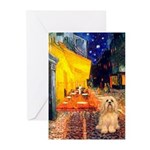 Cafe / Lhasa Apso #9 Greeting Cards (Pk of 20)